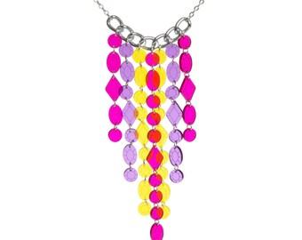 Beaded Curtain necklace - laser cut acrylic
