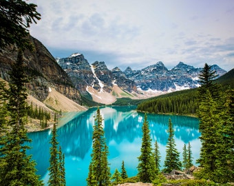 Moraine Lake, Banff, Alberta, Canada, Landscape Photography, Nature Photo, Lake Photo, National Park, Home Office Decor, Wall Art, Fine Art