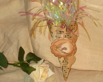 Sheet Music Handmade Wedding Favor Cones Set of 2 ECS