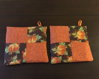 Autumn pot holders set of 2