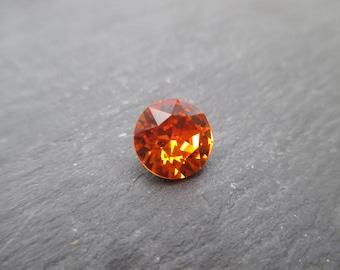 "Swarovski Crystal 8 mm cabochons loose ""Tangerine"" * 2"
