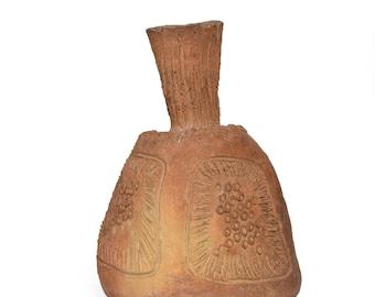 Mid Century Modern Pottery Ceramic Vase Signed Set Spoon