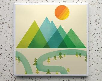 River Bend Tile Coaster