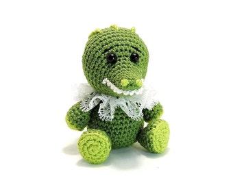 PATTERN: Crochet Little Crocodile (PDF file)- amigurumi animal tutorial crochet pattern template knitting crocodile stuffed toy alligator