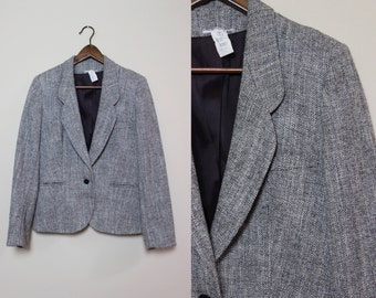Vintage Gray Tweed Blazer