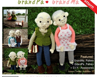 PDF Pattern - Amigurumi Grandpa and Grandma Pattern