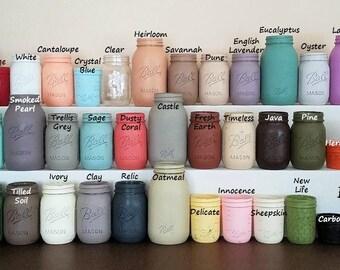 Mason Jars, Add-On Mason Jars, Mason Jar Decor, Painted Mason Jars, Clear Mason Jars, Pint Size Jars, Quart Size Jars, Jelly Jars