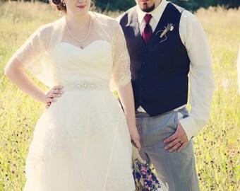 Wedding Lace Shawl Plus Size, Bridal Cover Up. 4 Options- Shawl, Shrug, Twist And Scarf. Vanilla Lace  Wedding Shrug, Cream Lace Shrug DL156