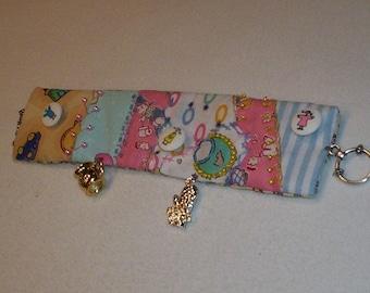 Crazy Quilt Patchwork Bracelet Cuff