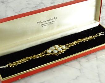 """Antique Opal Bracelet Gold Filled (6.5"""")"""