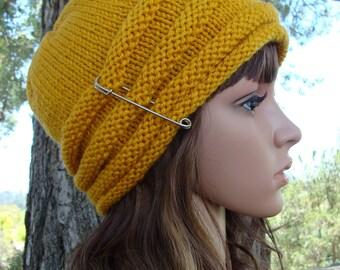 DIY - Knitting PATTERN #4: Womens Beehive Knit hat pattern, Fun and Sassy Beehive Hat Pattern, Size Teen/Adult - PDF Digital Pattern