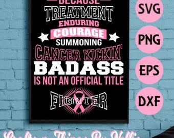 Cancer Kickin' badass SVG