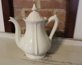 FARMHOUSE Style*Very Large Ironstone Coffee Pot/Pitcher*RED CLIFF Ironstone*Just Charming*Morning Stroll Farm