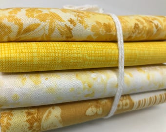Fabric Bundle - 4 Piece 1/2 Yard Quilters Fabric Bundle - Yellows