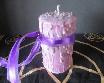 Meditation Candle ~ Spell Candle ~ Witchcraft Candle ~ Wicca Spell Candle ~ Drippy Candle ~ Wicca Ritual Candle ~ Witch's Candle