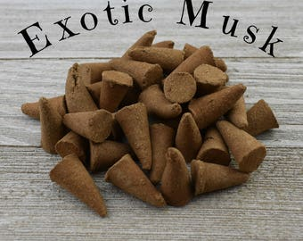 Exotic Musk Incense Cones - Hand Dipped Incense Cones