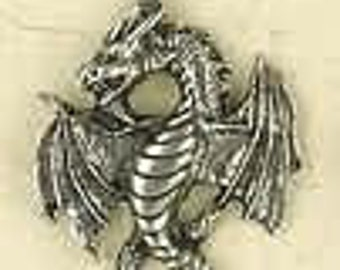 Large Dragon (Godzilla)-Pewter-Mythical&Magic-Medieval-Fantasy-Pendant-Jewelry