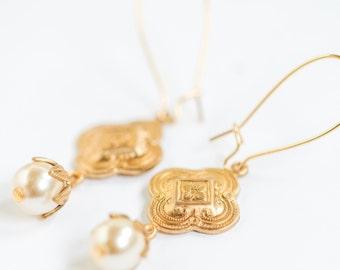 Pearl Earrings   Pearl earrings drop  pearl earrings dangle   pearl earrings gold   long pearl earrings  wedding earrings pearl