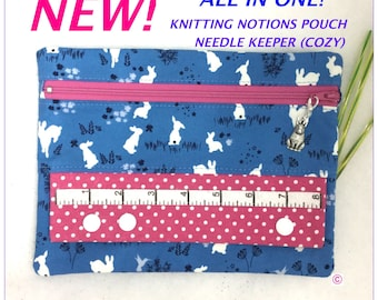 Knitting Notions Pouch, Needle Cozy (keeper), Knitting Keeper