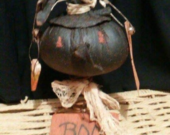 Primitive Witchy Pumpkin