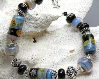 ULTIMATE ILLUSION Handmade Lampwork Bead Bracelet