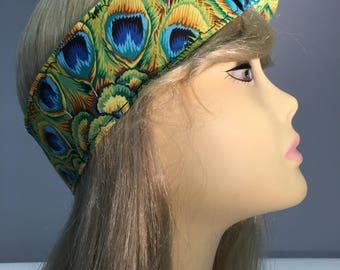 Peacock Pin Up Headband Headscarf