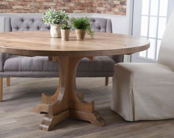 Round Caroline Pedestal Table