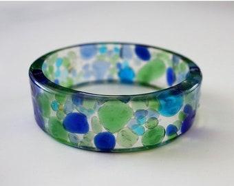 Sale 20% Rabais Sea glass bracelet, ocean bracelet, nautical bracelet, blue bracelet, seaglass bracelet, resin bracelet, glass bracelet