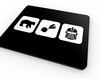 Bears Beets Battlestar Galactica - Mousemat / Mousepad - Inspired by The Office / Dwight Schrute