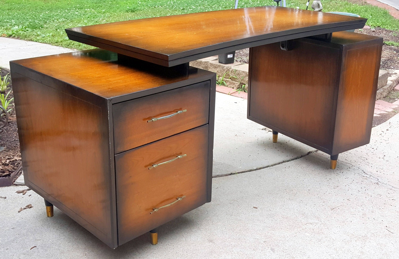 office furniture desk vintage chocolate varnished. 🔎zoom Office Furniture Desk Vintage Chocolate Varnished 0