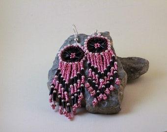 Electric Pink Dreamcatcher Earrings