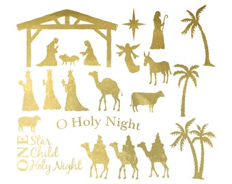 Nativity Set Vinyl | Nativity Set Decal | Wisemen | Vinyl Sheet | Custom Nativity Vinyl | Christmas Manger | Vinyl Decal | Glass Block Vinyl