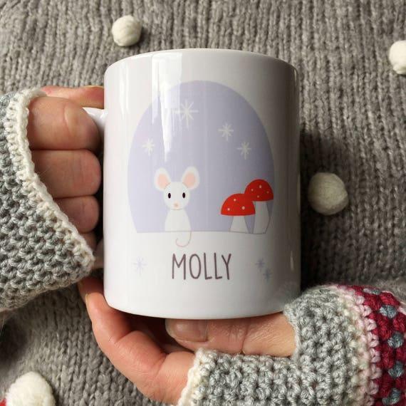 Mouse mug - cute mouse - christmas gift - personalised mug