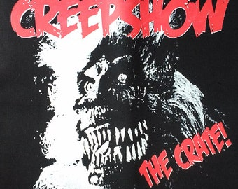 "BACK PATCH - Creepshow ""The Crate"" - canvas HORROR - Stephen King George Romero"