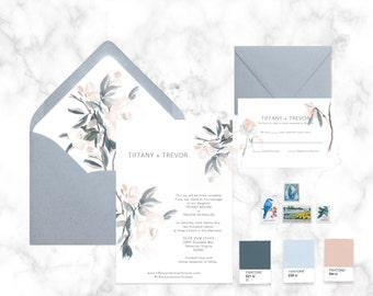 Wedding Invitation Suite SAMPLE | Ocean meets Wine Country
