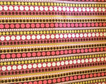 Gold Polka Dot Hot Pink Fabric Designer Fabric - Riley Blake Designs Enchanted Garden Samantha Walker c8514 Pink - Sewing Fabric Textiles