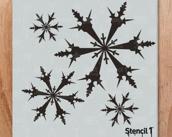 Snowflakes Repeat Pattern, Holiday, Christmas, Snow Stencil- Reusable Crafts & DIY Stencils- S1_PA_70 -11x11- By Stencil1