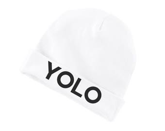 YOLO Funny Cotton Beanie For Infants