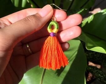 Amara Earrings in Orange