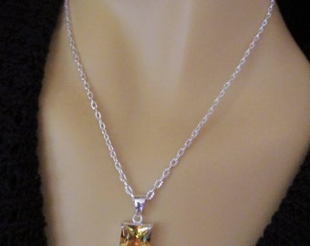 Genuine Natural Citrine Necklace  Earring and Ring Set