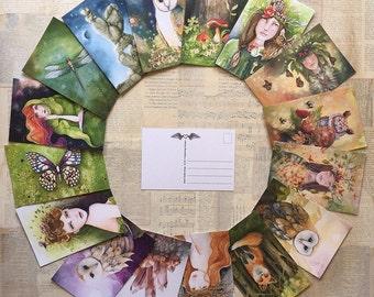 4 x 6 Art Postcards, Choose Your Own Images, Postcard Set, Postcard Paintings, Crystal Art, Custom Postcard Set