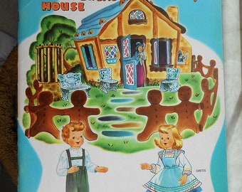 1956 Hansel and Gretel Whitman Push out Book -