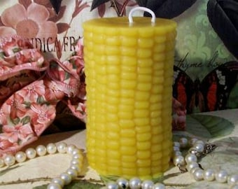 Beeswax Corn On The Cob Candle