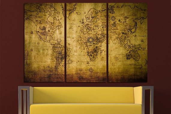 Vintage world map old world map antique world map canvas world gumiabroncs Images