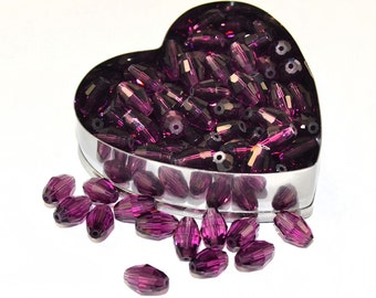 2 pcs Swarovski 5200 Oblong Beads 9x6 mm, Amethyst (OSW001)