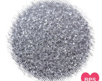 Silver Sanding Sugar, Silver Sprinkles, Gray Sprinkles, Silver Christmas Sprinkles, Silver Wedding Sprinkles, Silver Cocktail Rimming Sugar