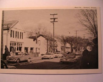 Postcard of: Main Street in Dewart PA