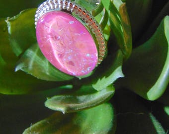 Gorgeous Triple Opal and Silver Ring.... size 7.5 only