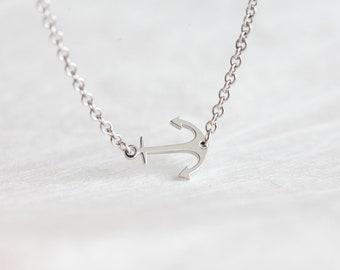 Anchor Necklace, Anchor Bracelet, Anchor Anklet, Anchor Jewelry, Solid Gold Anchor Necklace, 14k Gold Necklace, Simple Gold Necklace, Anklet