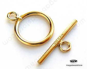 2 Sets 11mm 14K Gold Filled Toggle Clasp Hoop and Bar T127GF